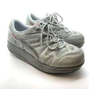 Womens MBT Sport Walking Rocker Shoes 6.5 Gray